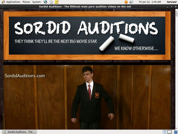 Join Sordid Auditions With Paypal