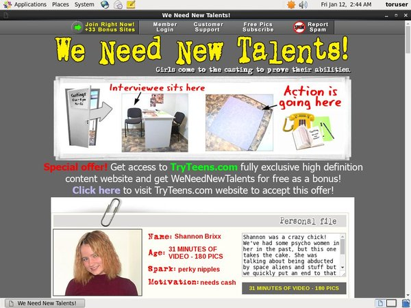 We Need New Talents Site Review