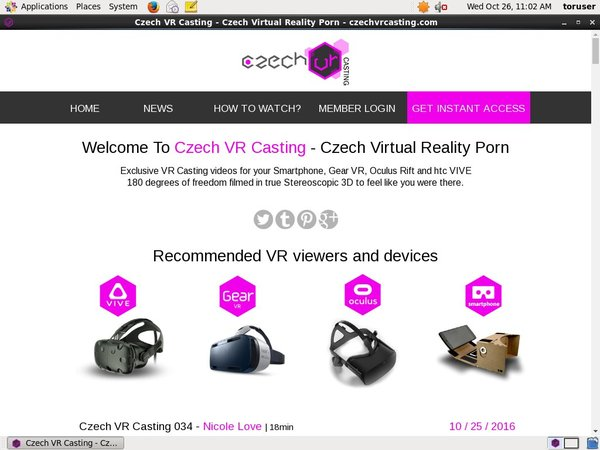 Czech VR Casting With IBAN