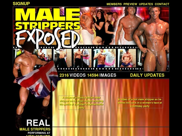 Discount For Male Strippers Exposed